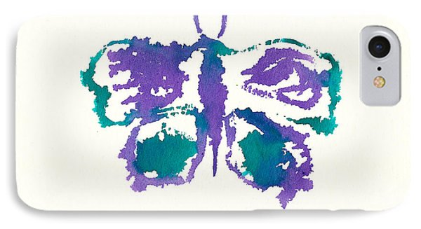 IPhone Case featuring the painting Butterfly Inkblot by Frank Bright