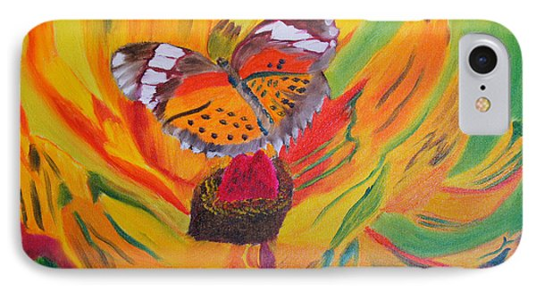 Butterfly Jungle IPhone Case by Meryl Goudey