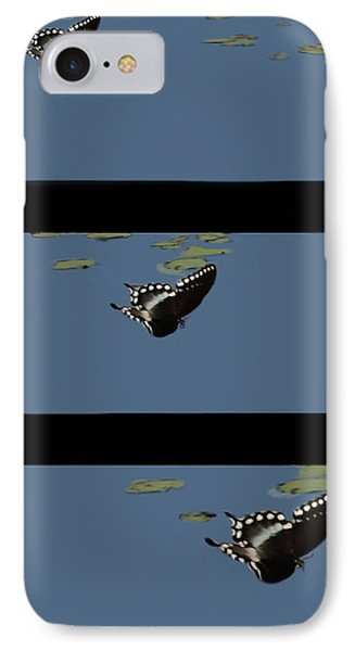 Butterfly Landing Phone Case by Debra     Vatalaro