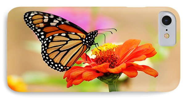 IPhone Case featuring the digital art Butterfly Lunch by Lorna Rogers Photography