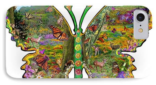 Butterfly Meadow Green Phone Case by Alixandra Mullins