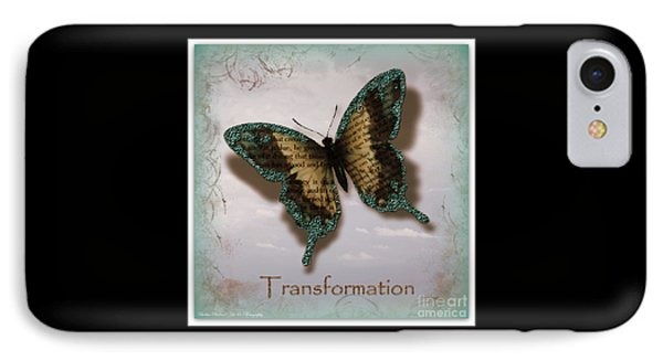 Butterfly Of Transformation IPhone Case by Bobbee Rickard