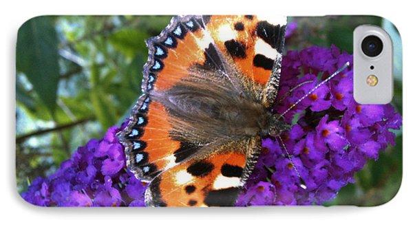 Butterfly On Flower Phone Case by Beril Sirmacek