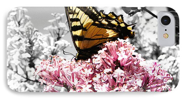 Butterfly On Lilac IPhone Case by Mellisa Ward