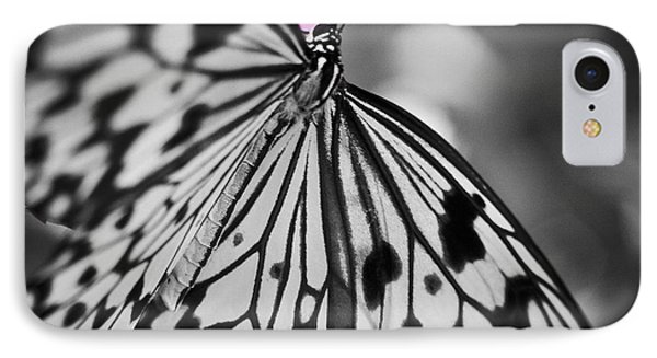 Butterfly On Pink Flowers IPhone Case by Bradley R Youngberg
