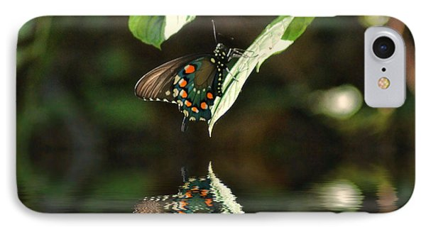 Butterfly Over The River IPhone Case by Rick Friedle
