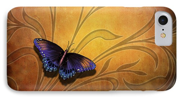 Butterfly Pause V2 IPhone Case by Bedros Awak