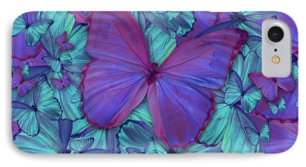 Butterfly Radial Violetmorpheus Phone Case by Alixandra Mullins