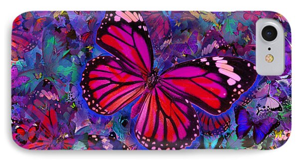 Butterfly Red Explosion Phone Case by Alixandra Mullins