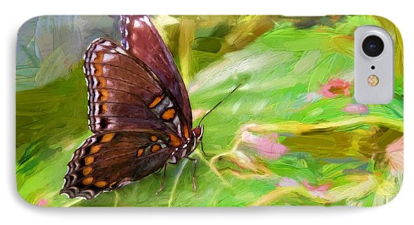 Butterfly - Red-spotted Purple IPhone Case by Ludwig Keck