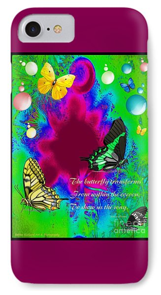Butterfly Shows The Way IPhone Case by Bobbee Rickard