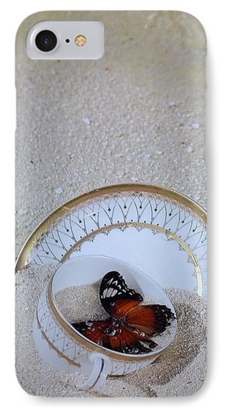 Butterfly Teacups On The Beach IPhone Case