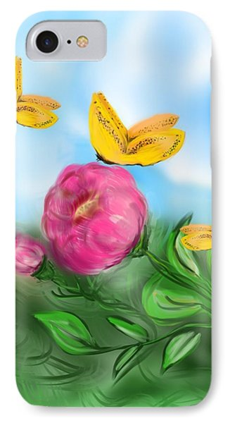 IPhone Case featuring the digital art Butterfly Triplets by Christine Fournier