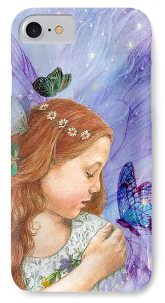 Butterfly Twinkling Fairy IPhone Case by Judith Cheng