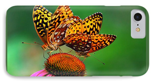 Butterfly Twins Phone Case by Christina Rollo