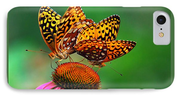 IPhone Case featuring the photograph Butterfly Twins by Christina Rollo