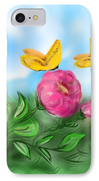 IPhone Case featuring the digital art Butterfly Twins by Christine Fournier