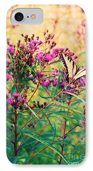 IPhone Case featuring the painting Butterfly Wildflower by Eric  Schiabor