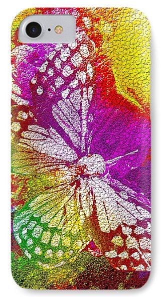 IPhone Case featuring the digital art Butterfly World 2 by Nico Bielow