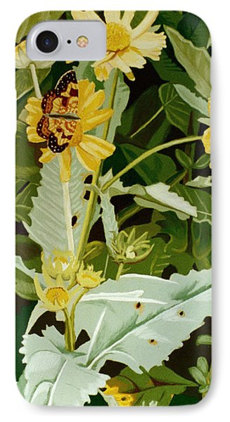 Butterfly Yellow  Phone Case by Tanya Provines