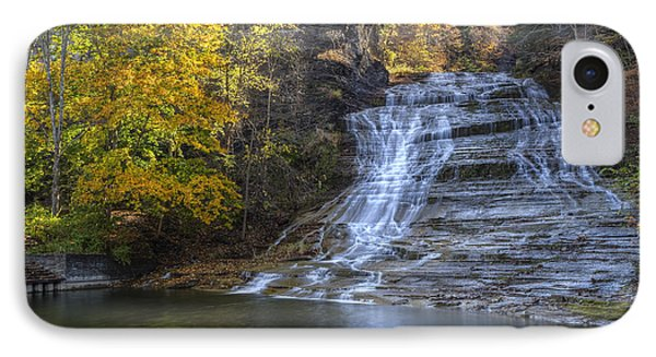 Buttermilk Falls Autumn Phone Case by Colin D Young