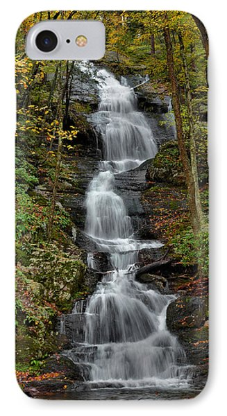 Buttermilk Falls In Autumn Phone Case by Stephen  Vecchiotti