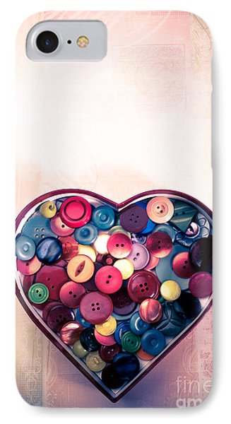 Button Love IPhone Case