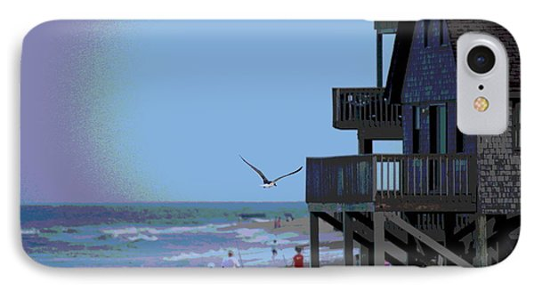 Buxton Beach And People Phone Case by Cathy Lindsey