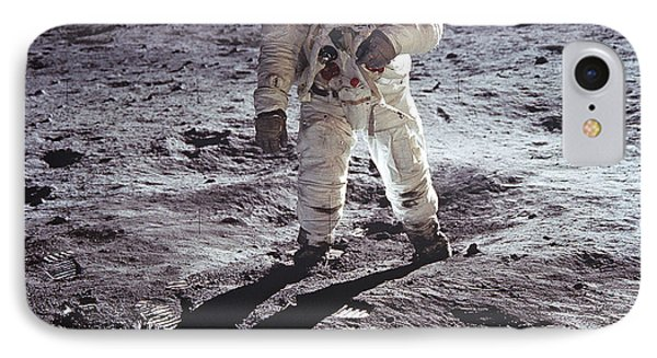 IPhone Case featuring the photograph Buzz Aldrin On The Moon by Rod Jones