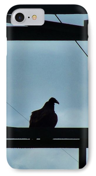 Buzzard On Tower Phone Case by Mark Malitz