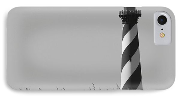 IPhone Case featuring the photograph Bw Of Hatteras Lighthouse by Laurinda Bowling