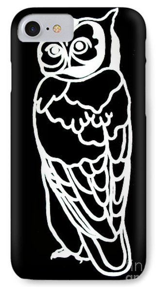 Bw Owl Phone Case by Amy Sorrell