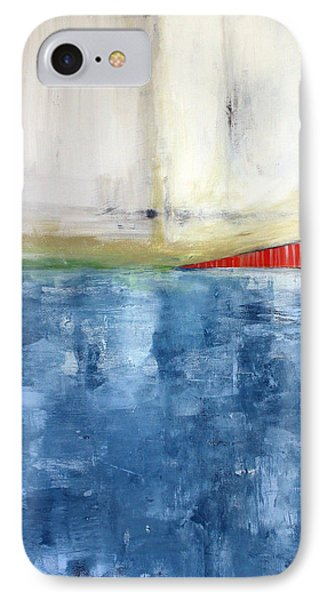 By The Bay- Abstract Art IPhone Case by Linda Woods