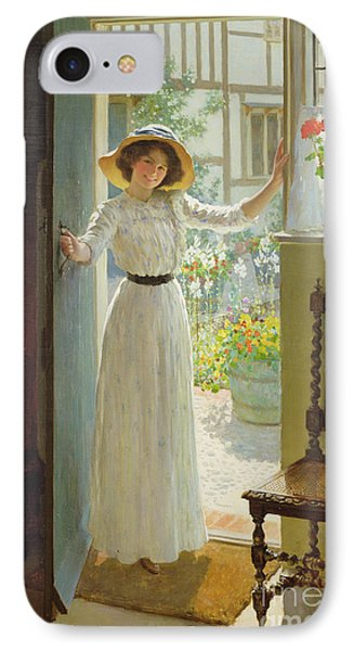By The Cottage Door Phone Case by William Henry Margetson