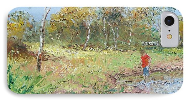 By The Creek IPhone Case by Jan Matson