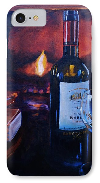 By The Fire IPhone Case by Donna Tuten