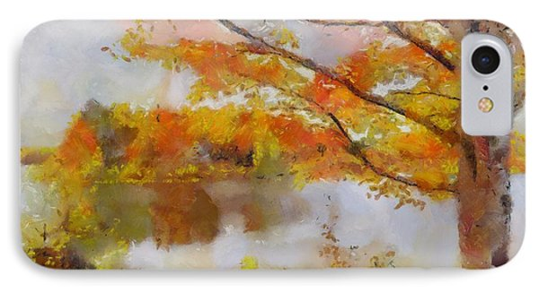 IPhone Case featuring the painting By The Lake by Wayne Pascall