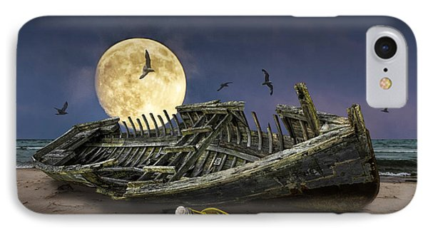 By The Light Of The Moon IPhone Case by Randall Nyhof