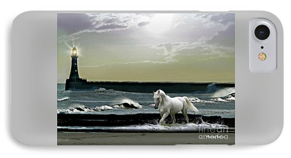 IPhone Case featuring the mixed media By The Light Of The Silvery Moon by Morag Bates