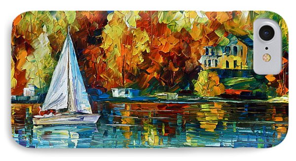 By The Rivershore Phone Case by Leonid Afremov