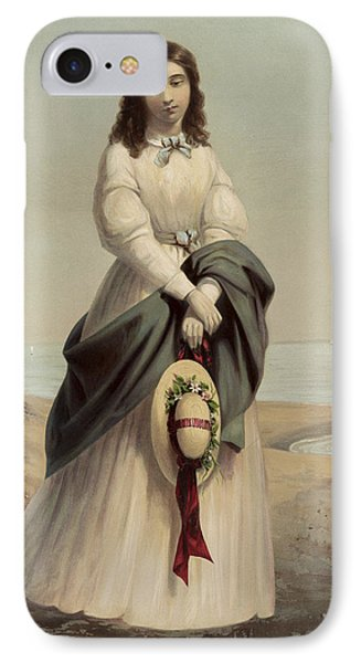 By The Sea Shore Circa 1868 IPhone Case by Aged Pixel