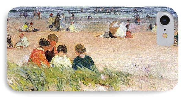 By The Shore Phone Case by Edward Potthast