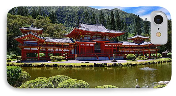 Byodo-in Temple On The Island Of Oahu Hawaii IPhone Case by Aloha Art
