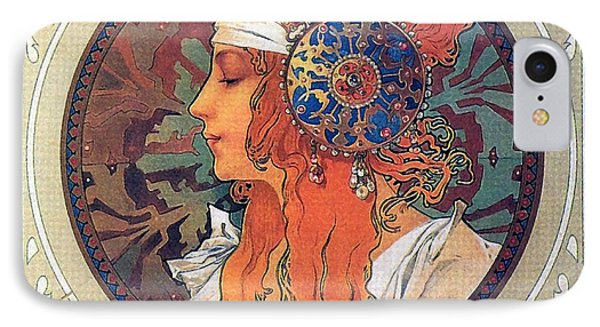 Byzantine Head The Blonde IPhone Case by Philip Ralley