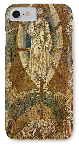 Byzantine Icon Depicting The Transfiguration IPhone Case by Byzantine School