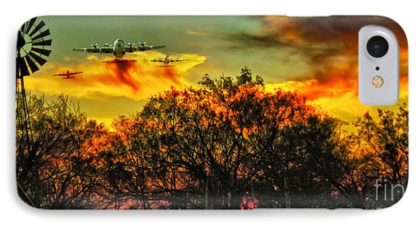 Wildfire C-130  IPhone Case by Robert Frederick