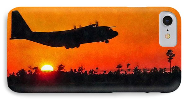 C-130 Sunset IPhone Case by Paul Fearn