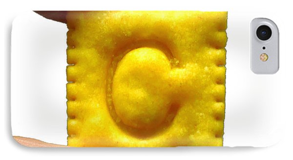 C For Cheese Cracker IPhone Case by Pete Trenholm