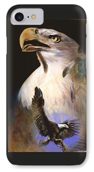 IPhone Case featuring the pastel Contact 2 - Pastel Art  by Brooks Garten Hauschild