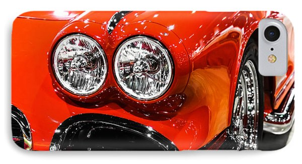 C1 Red Chevrolet Corvette Picture Phone Case by Paul Velgos